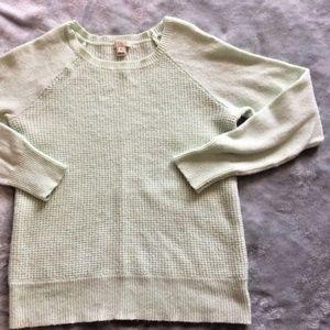 J. Crew Mint Green Pastel Wool Blend Sweater Sz M